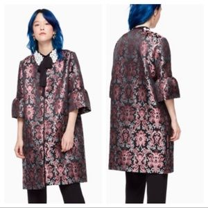 Kate Spade || Tapestry Jacquard Open Coat